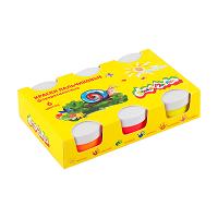 Краски пальчиковые Каляка-Маляка 60 мл 6 цв. Флуор 3+,а.61764